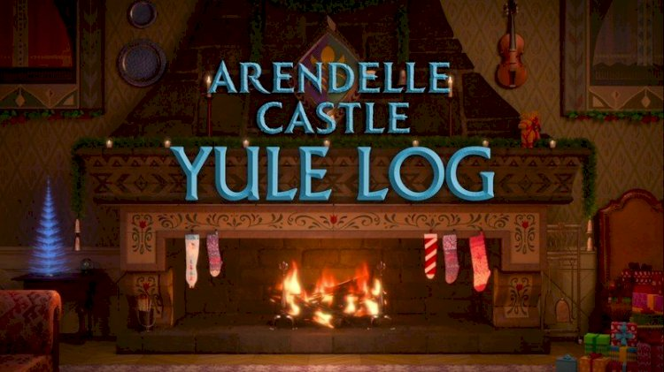Get in the spirit of the season with a fun new yule log from Disney+